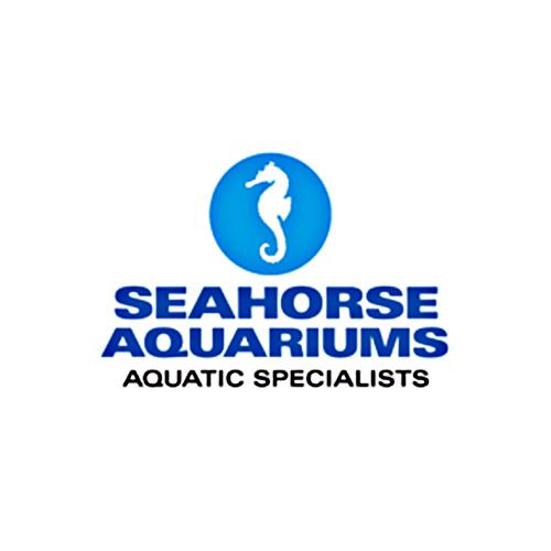 seahorse aquarium logo